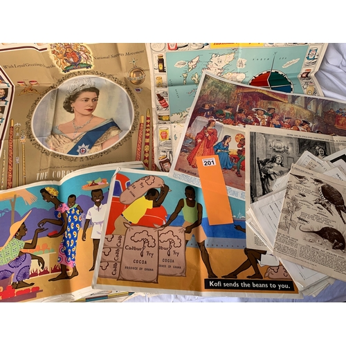 201 - Collection ov vintage 1950s, 1960s and later school wall posters