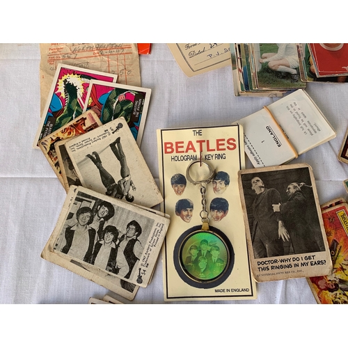 202 - 1960's Bubblegum cards, with vintage tickets, football cards etc