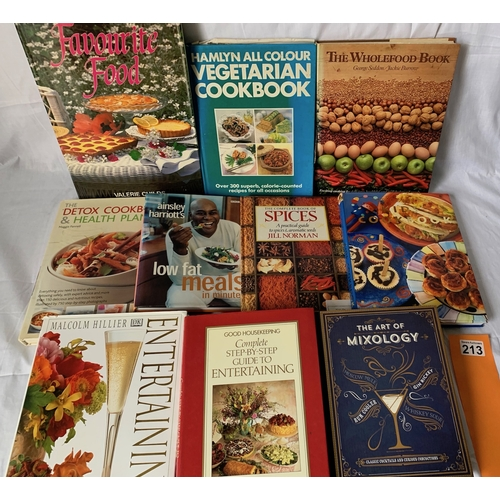 213 - Large quantity of Cookery Books