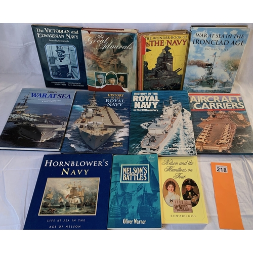 218 - Collection of Naval history books