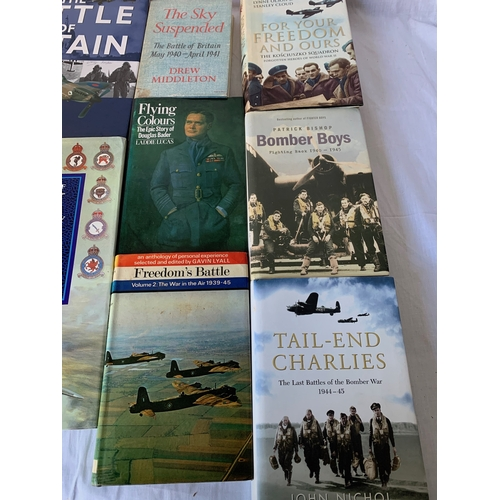 220 - Collection of R.A.F. WW2 military history books Battle of Britain etc