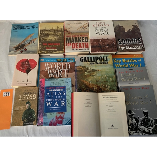 221 - Collection of World War One books