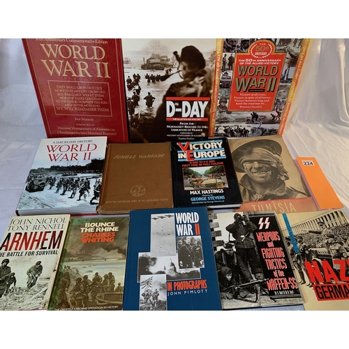 224 - Collection of World War Two military history books