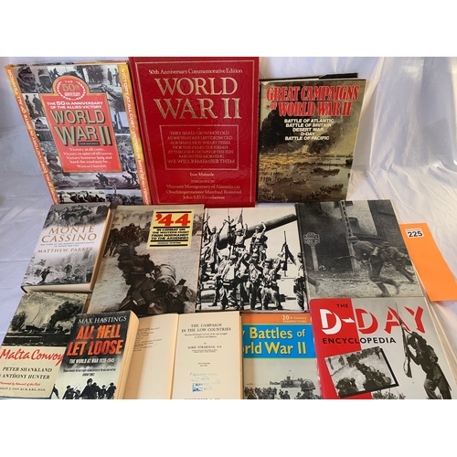 225 - Collection of World War Two military history books