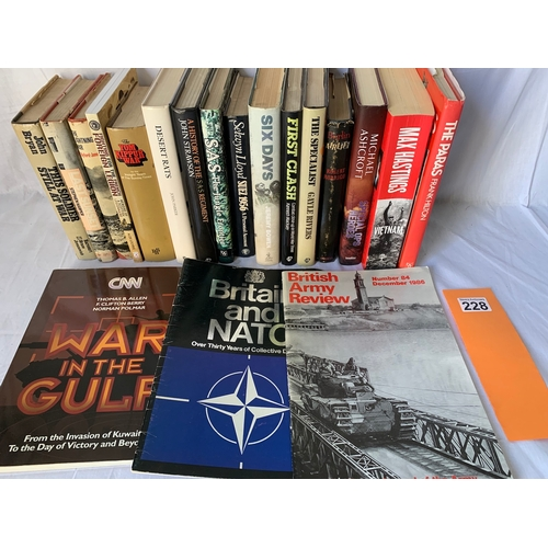 228 - Post WW2 conflict military history books inc: Last Sunset - What Happened In Aden - Stephen Harper 1...