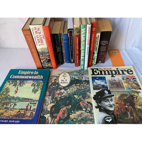 230 - Collection of books concerning the British Empire inc: War on the Nile: Britain, Egypt and the Sudan...
