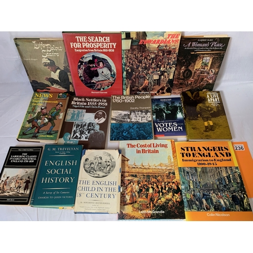 236 - Collection of books on British social history