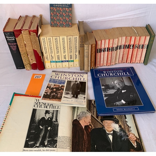 257 - Bound Original Colour Supplements 1965 - Churchill Death plus good collection of vintage books by or...