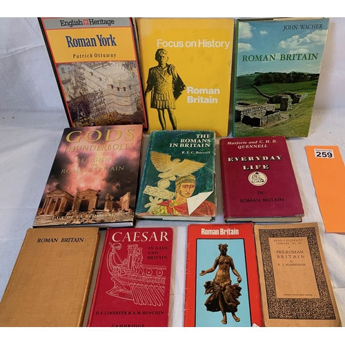 259 - Collection of books on Roman Britain