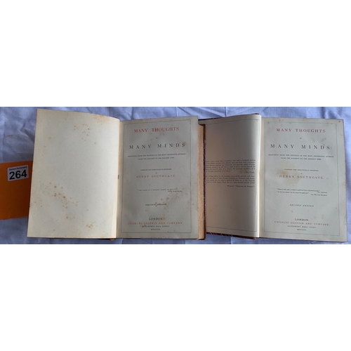 264 - 2 Antiquarian volumes from the private collection of the Headmaster of a religious private school - ...