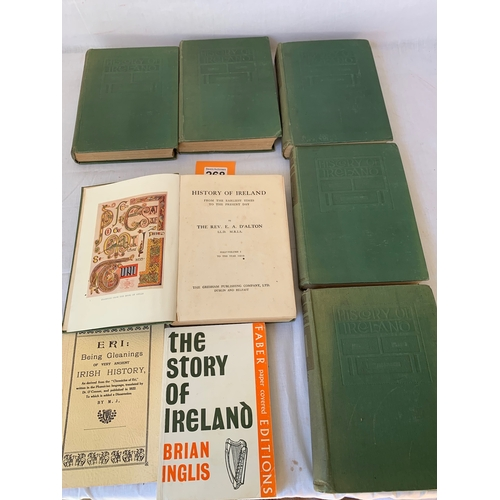 268 - Antique 1911 HISTORY OF IRELAND VOLUMES 1 TO 6 THE REV E A D'ALTON 2nd EDITION
