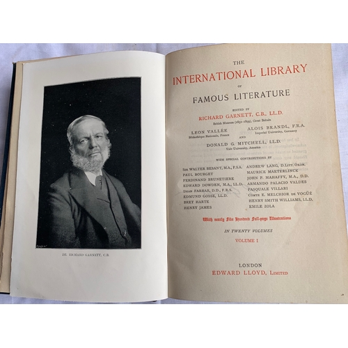 275 - International Library of Famous Literature x 20 Edward Lloyd