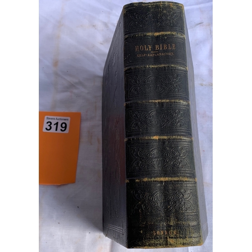 319 - The Holy Bible / The Self-Explanatory Reference Bible... 1852.