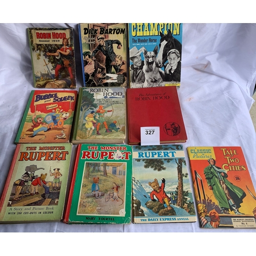 327 - Vintage Children's annuals including Rupert