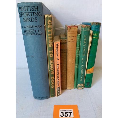 357 - British Sporting Birds 1936 Illustrated Hardback TC & EC Jack Ltd plus other vintage hunting books