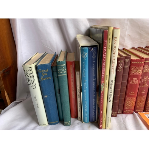 375 - Purnell Delux Classics and other vintage childrens story books etc