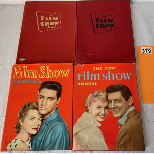 379 - 4 Volumes of Film Show Annual, two with dust jackets with one featuring Elvis Presley. 1950's.
