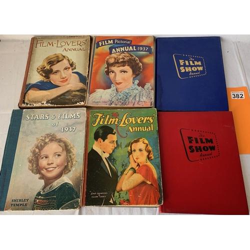 382 - 4 vintage 1930's movie annuals etc