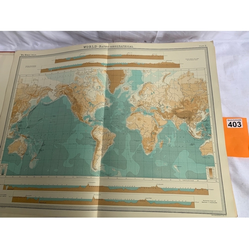 403 - The Times Atlas and Gazetteer of the World - George V Selfridge Edition 1930s