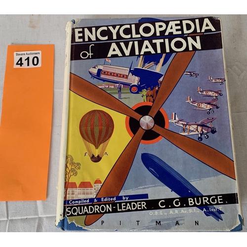410 - Encyclopaedia of Aviation by C.G. Burge (unusual with rare jacket enclosure) New Era Publications