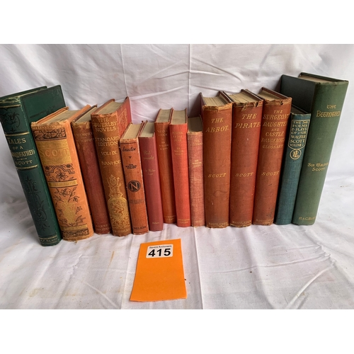415 - Collection of Sir Walter Scott Books