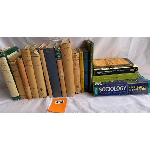 432 - Collection of vintage volumes on Psychology and Sociology