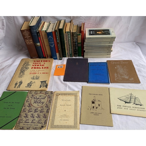 436 - Collection of 20th Century Poetry books inc: The Penguin Poetry Library PBs
