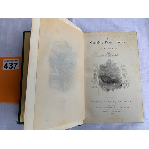 437 - The Complete Poetical Works of Sir Walter Scott with illustrations from designs by J M W Turner 1885...