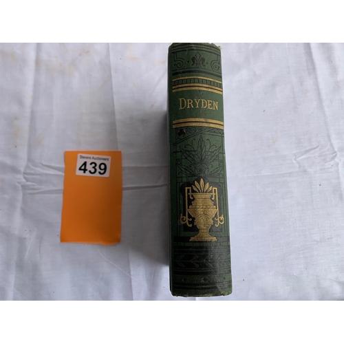 439 - The Poetical Works of John Dryden. Published by J B Lippincott of Philadelphia 1883.