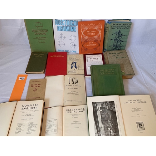 449 - Engineering books collection inc: TVA by Julian Huxley 1st Ed 1943