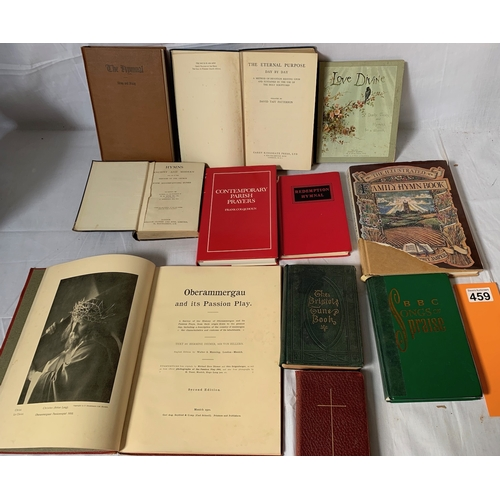 459 - Oberammergau and Hymn books, religious books etc