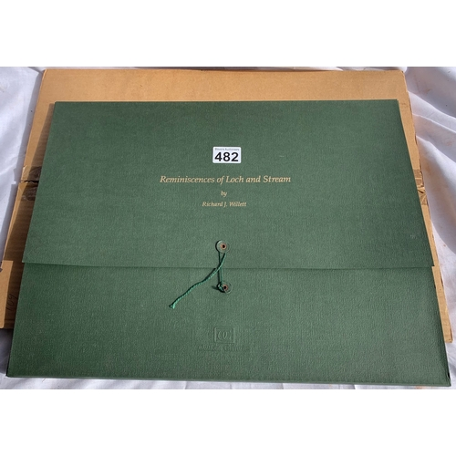 482 - Reminiscences Of Loch And Stream - Richard J Willet 4 x Signed Ltd Ed Prints