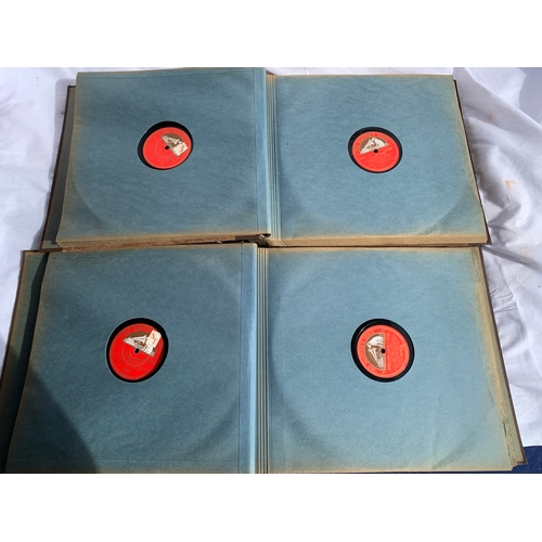 492 - Two original HMV cased 78s plus other loose 78s records in vintage case