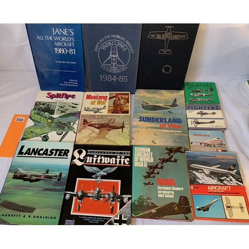 500 - Collection of Aircraft books including older Jane's