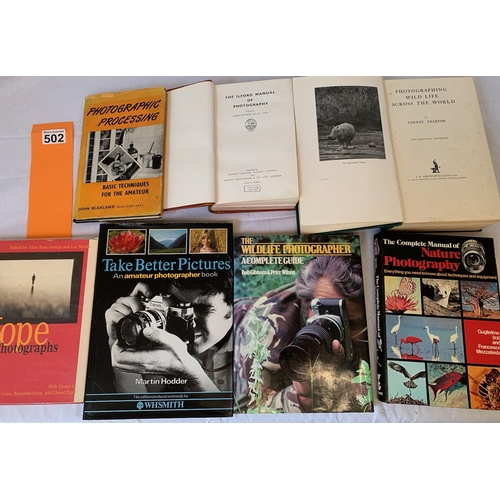 502 - Collection of books on photography