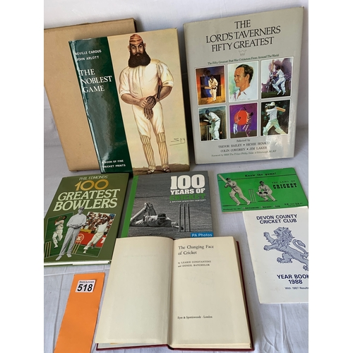 518 - The Noblest Game - A book of fine Cricket prints etc
