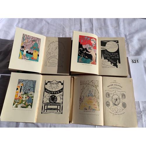 521 - Dr Doolittle books x 4
