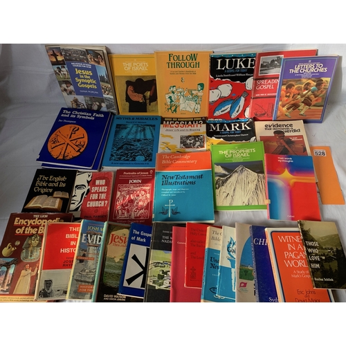 528 - Large collection of Christian and bible study books