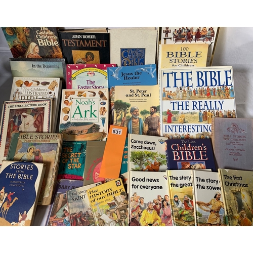 531 - Large collection of childrens Bible Study books inc. Ladybird