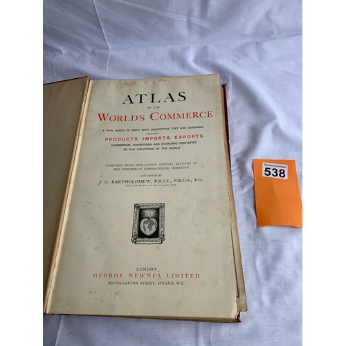 538 - Atlas of the Worlds Commerce 1907