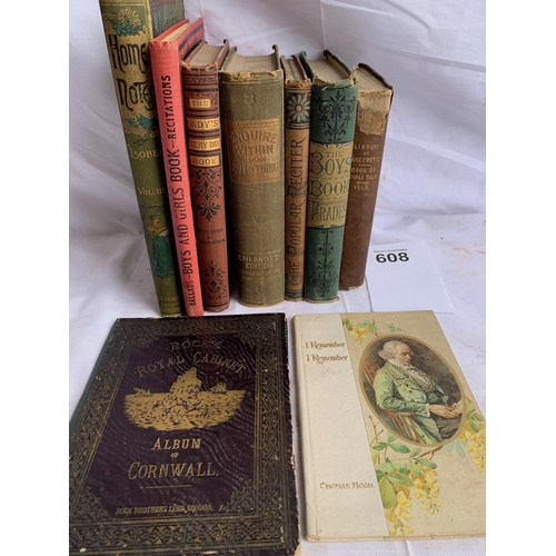 608 - Collection of 19th Century Books