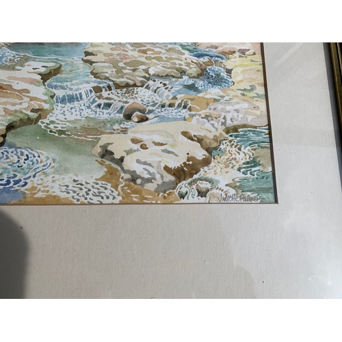 632 - Juliette Palmer (RA) Large French watercolour - Largetiere Addeche Castle