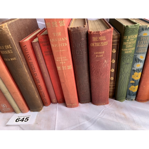 645 - Collection of Vintage Fiction - Various Authors