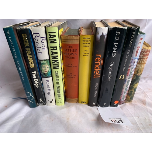 651 - Collection of Modern Firsts - Crime Novels various Authors