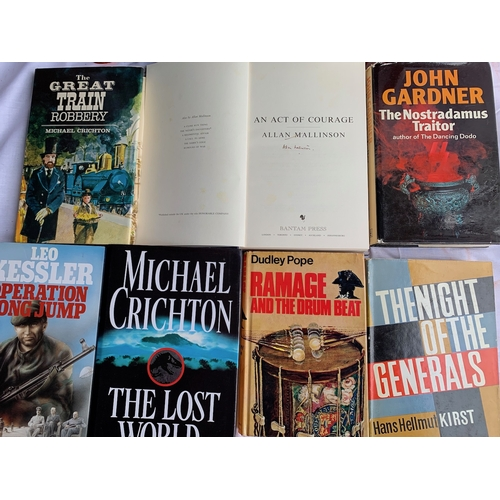 652 - Collection of Modern Firsts - Military and Thriler Novels inc: Signed 1st by Allan Malinson