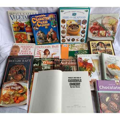 212 - Large quantity of Cookery Books