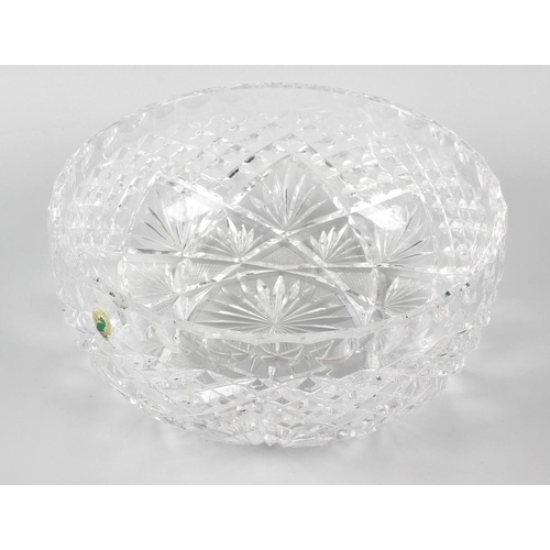 20 - A Waterford crystal bowl of circular form with panel, hob-nail, strawberry and star cutting, 10 x 4 ...