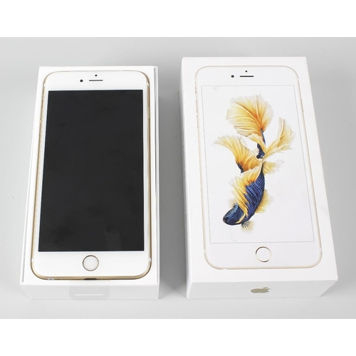 208 - A brand new Apple iPhone 6s Plus Gold, 128MB,, (arrived sealed, contents checked), in box of issue. ...