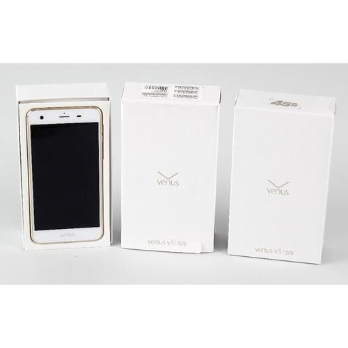 209 - Three unused Vestel Venus V3 5570 smartphones. For the Turkish market, Android 5, 13MP camera, 2GB R...
