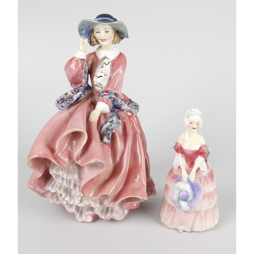 24 - Two Royal Doulton figurines, the first Top o'the Hill, HN1849, 7 (18cm) high, plus Veronica Rd. No. ...